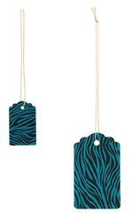 Small or Large Oval Turquoise Zebra Strung Price Tags