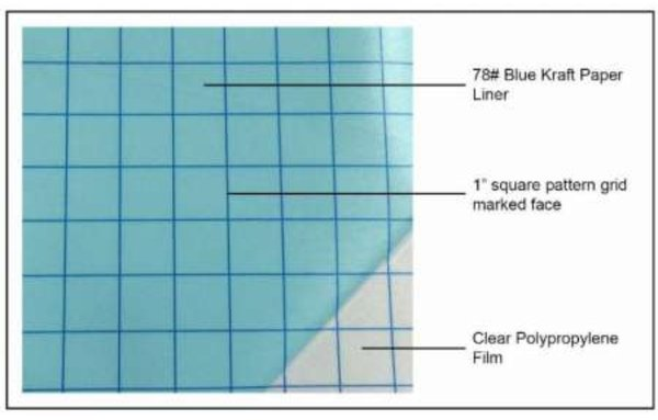 CLEAR Transfer Tape with Blue Grid