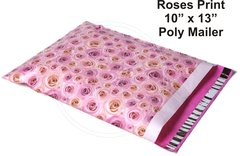 """Roses Flower Print Poly Mailers 10"""" x 13"""""""