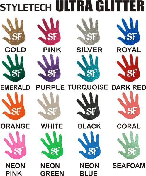 """4"""" (Choose Pack Size) Ultra Glitter Adhesive Outdoor Vinyl"""