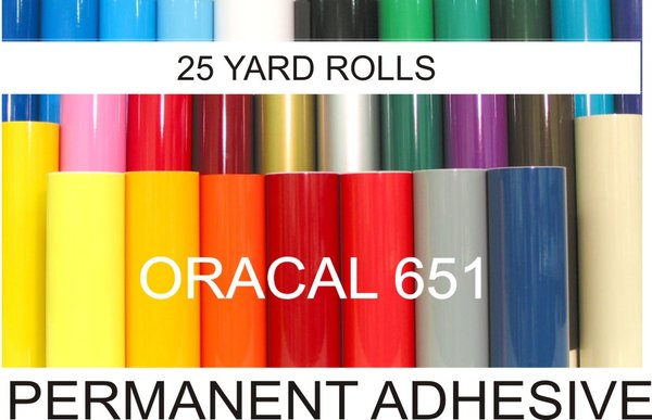 "12"" ORACAL 651 Vinyl...25 Yard Roll"