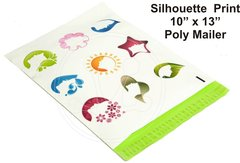 """Silhouette Print Poly Mailers 10"""" x 13"""""""