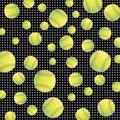 Softball Digitally Printed - Pattern 8
