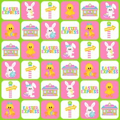 Easter Pattern Digitally Printed