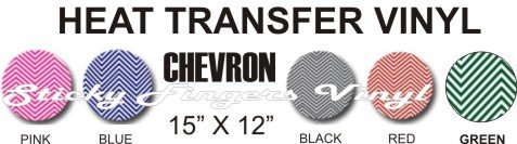 "CHEVRON PRINT Heat Transfer Vinyl Sheets 12"" x 15"""