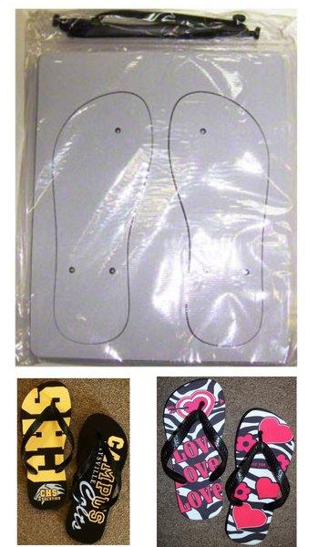 Sublimation Flip Flop Blanks with Black Strap