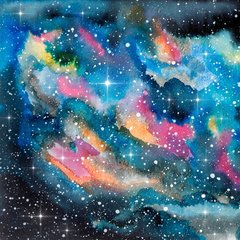 Galaxy Water Color Patterns Digitally Printed