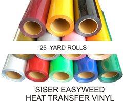 SISER EasyWeed HEAT TRANSFER VINYL 25 YARD ROLL