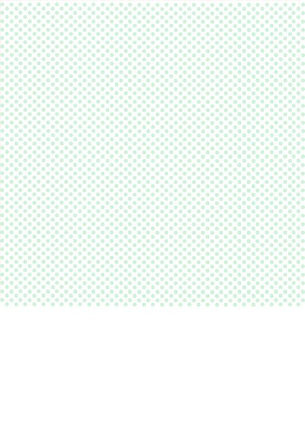Mint Green Polka Dots with White Background Print