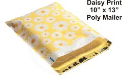 """Daisy Print Poly Mailers 10"""" x 13"""""""