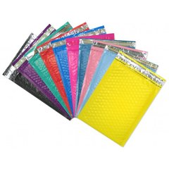 """10.5"""" x 15.25"""" LARGE Color Padded Bubble Mailing Envelopes"""
