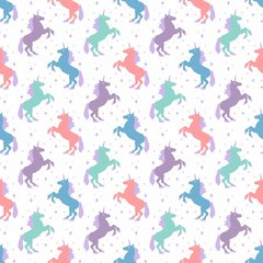 Unicorn Pattern Digitally Printed