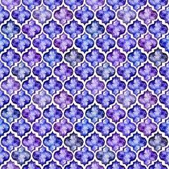 Quatrefoil Water Color Patterns Digitally Printed