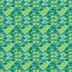 Mermaid Fish Scale Pattern Digitally Printed