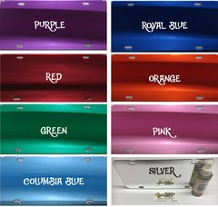 Mirrored ACRYLIC License Plate Blanks-Colored
