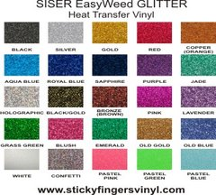 "SISER EasyWeed GLITTER Sheets 6"" x 12"""