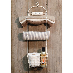 Bath Towel Rack & Basket