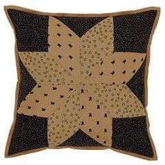 """Brockton Cabin Black Pillow Cover, 16"""""""