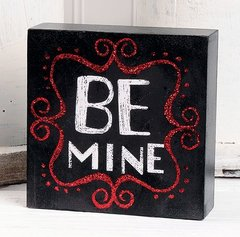 'BE MINE' WALL BOX SIGN
