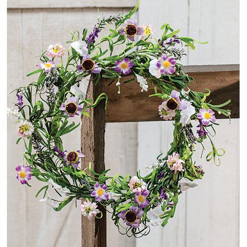Spring lilac garden wreath 20 country cabin decor farm rustic spring lilac garden wreath 20 mightylinksfo Images