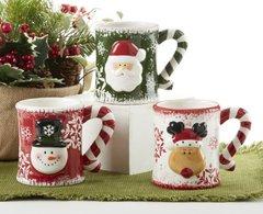 """5.5"""" x 4.4"""" Ceramic Christmas Mug, 3 Assorted"""