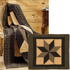 Dakota Star Quilted Throw, 60x50