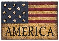 America Burlap Sign