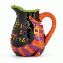 6 Inch Trick or Treat Ceramic Pitcher