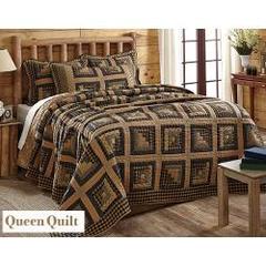Brockton Cabin Black Queen Quilt