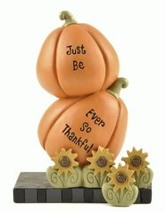 'EVER SO THANKFUL' STACKED PUMPKINS W/SUNFLOWERS