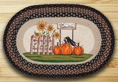 Pumpkin Patch Sunflower 20x30 Oval Rug