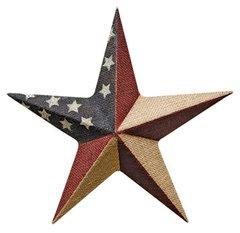"Burlap Americana Star, 12"""