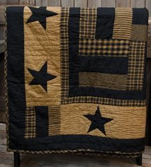Delaware Star Quilted Throw