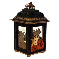"10.5"" Halloween lantern w/ pumpkins"
