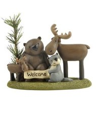'WELCOME' FOREST FRIENDS ON BASE