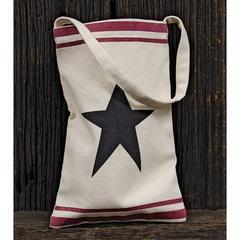 Black Star Canvas Bag w/Handle