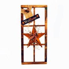 6 window/ Star/bow/welcome