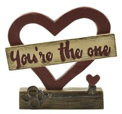 'YOU'RE THE ONE' HEART ON BASE