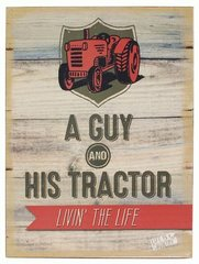 'GUY AND HIS TRACTOR' WALL SIGN