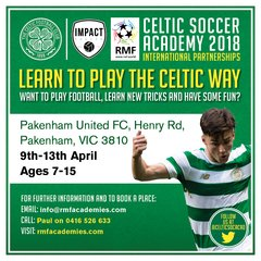 Expression of Interest Celtic FC Soccer Academy PAKENHAM in APRIL 2018