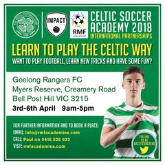 Expression of Interest Celtic FC Soccer Academy GEELONG in APRIL 2018