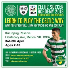Expression of Interest Celtic FC Soccer Academy MELTON in APRIL 2018