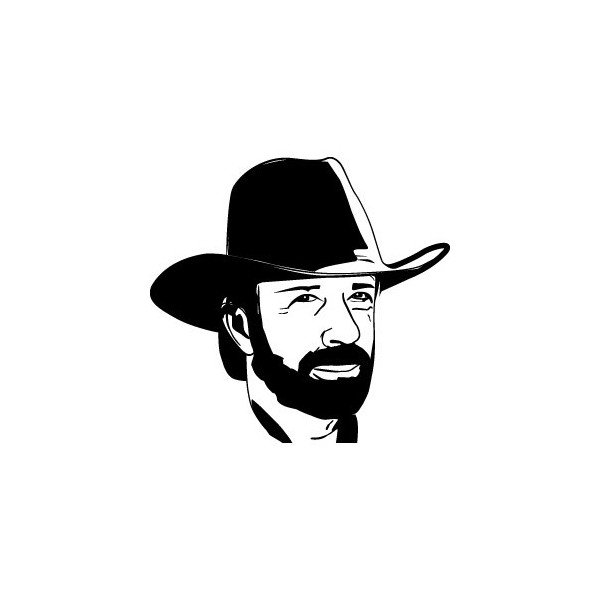 Chuck Norris Vinyl Decal Arrowhead Outdoor Products