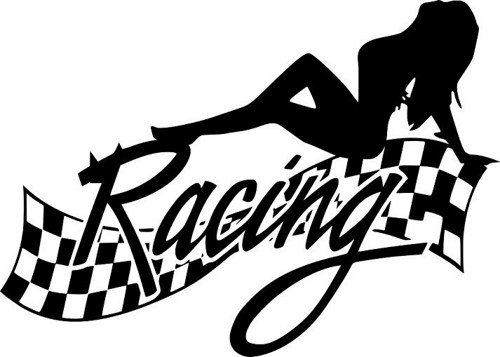 Sexy Lady Racing Decal Vinyl Decal Arrowhead Outdoor