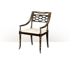 Theodore Alexander Accent black/gold painted chair