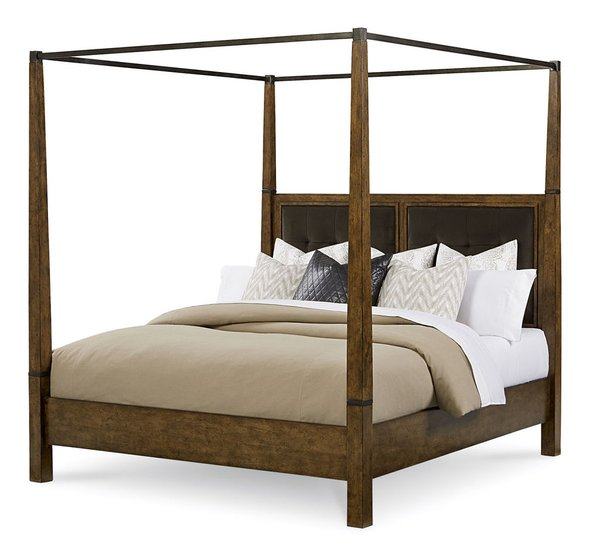 Mkr212 king canopy bed furniture royal high end for High end canopy beds