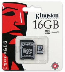Class 4 Kingston Ultra Micro SD Memory Card 16GB