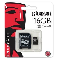 Class 10 Kingston Ultra Micro SD Memory Card 16GB