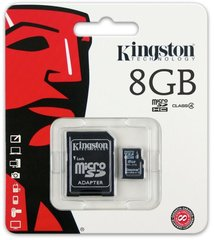 Class 4 Kingston Ultra Micro SD Memory Card 8GB