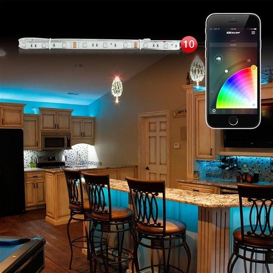 Interior Led Lights For Home: 10pc 3ft Slim Strip Home Office XKchrome App Control
